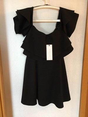 Keepsake One Shoulder Dress black
