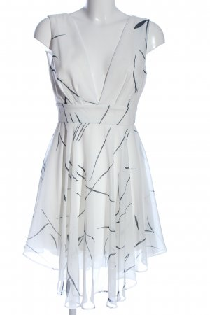 Keepsake Szyfonowa sukienka biały-czarny Na całej powierzchni W stylu casual