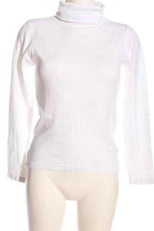 kei- bi -kei Maglia a collo alto bianco stile casual