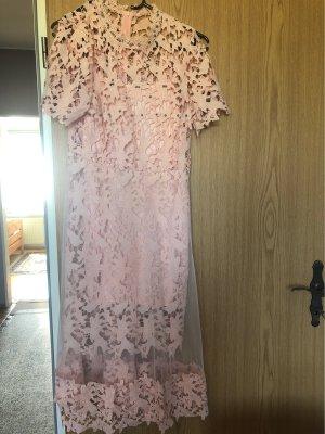 100% Fashion Sukienka o kroju litery A jasny różowy