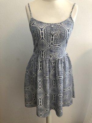 Keid Sommerkleid Trägerkleid blau weiß gemustert Gr. S