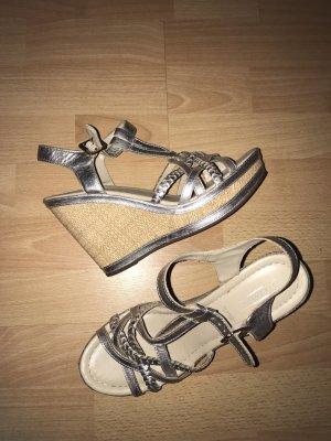 Plateauzool sandalen brons