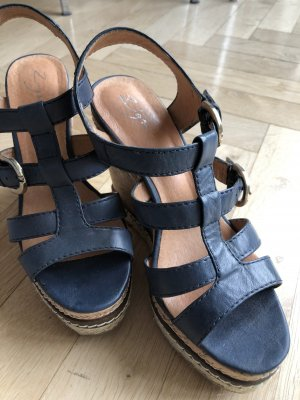 keil plateau sandalen 38  blau zign