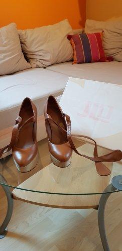 JLo by Jennifer Lopez Wedge Pumps light brown-cognac-coloured