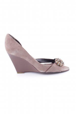 Dibrera Keil-Pumps lila Casual-Look