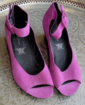Keil Sandalen in Pink aus Velourleder 39 - neu