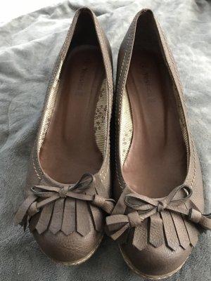 Jessica Zapatos de cuña marrón claro-marrón grisáceo