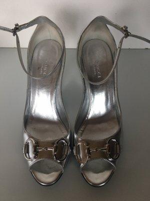 Keilabsatz Gucci Pumps Silber