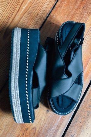Zara Platform Sandals khaki