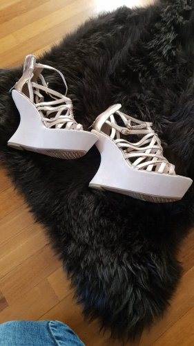 Tamaris Platform High-Heeled Sandal cream