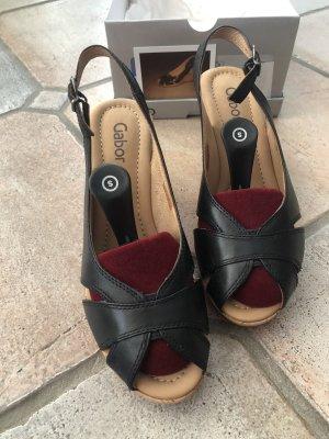 Keilabsatz Sandale Gabor schwarz 38,5