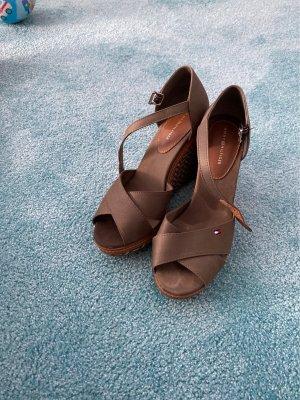 Tommy Hilfiger Plateauzool sandalen khaki