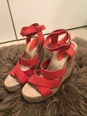 H&M Basic Zapatos de cuña rojo