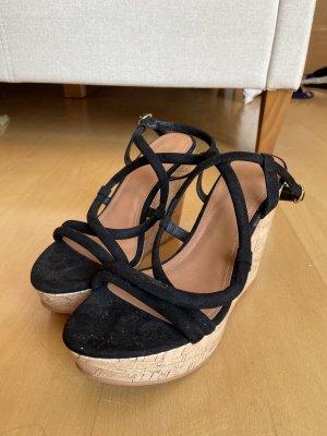 H&M Wedge Sandals black-light brown