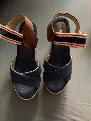 cats Platform Sandals dark blue-red