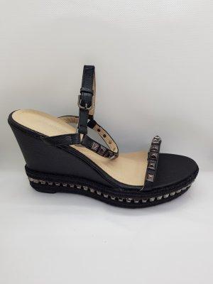 Keilabsatz-Sandalen mit Nieten Gr.41