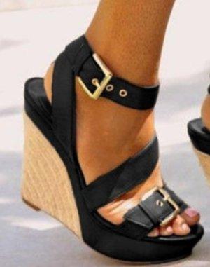Keilabsatz Sandalen mit verstellbarer Schnalle NEU!