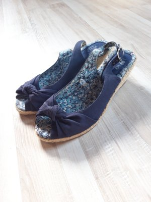 I love my style Sandały japonki z rzemykami kremowy-niebieski