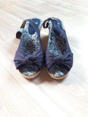 I love my style Sandalias de tacón con talón descubierto crema-azul