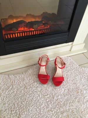 Sandalo a zeppa rosso