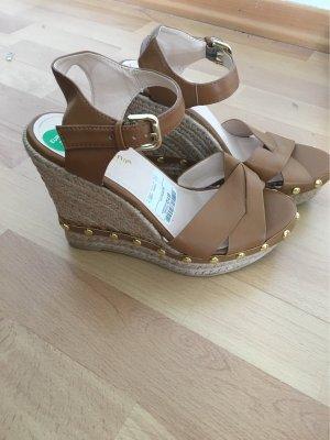 Keilabsatz Schuh Sommer beige
