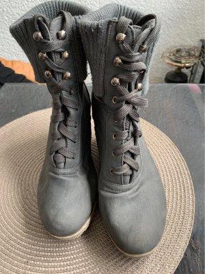 Wedge Booties grey-nude