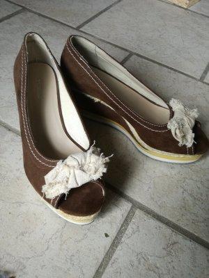 Graceland Escarpin compensé brun-beige clair