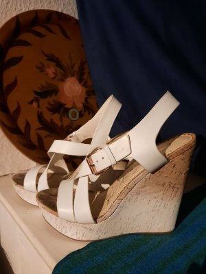 Naughty Monkey Wedge Pumps white