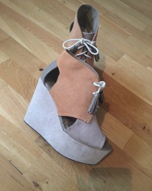H&M Divided Wedge Sandals light brown