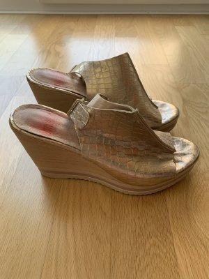 Keilabsatz Schuhe ice Gold