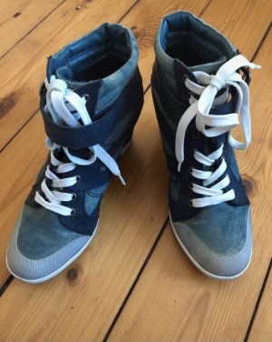 Keilabsatz Schuhe in Jeansoptik