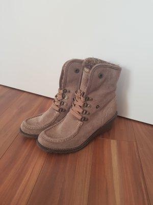 Keilabsatz Schuhe Stiefeletten aus Wild leder von Bama Gr. 37