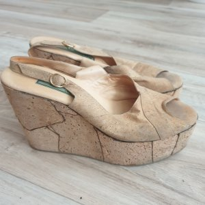 Keilabsatz Schuhe Vintage von PENSATO ITALY Sommer Heels GR. 38