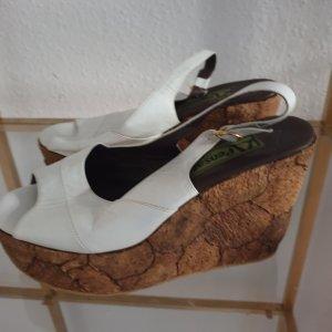 Pensato Sandalo alto con plateau bianco