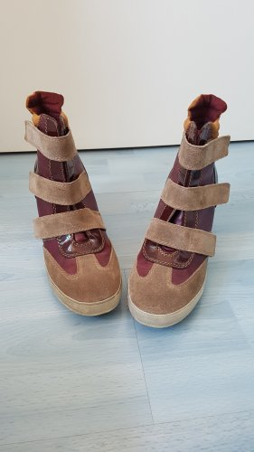 Street Super Shoes Sneakers met hak bordeaux-beige