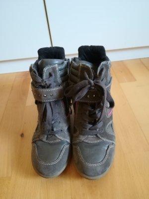Tamaris Sneakers met hak grijs-roze Leer