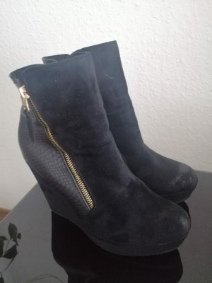 unbekannte Ankle Boots black-gold-colored