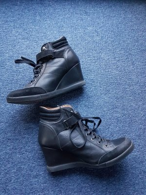 Apple of eden Wedge Sneaker black