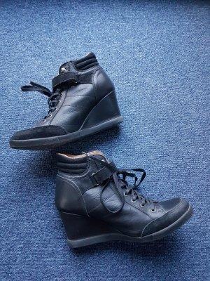 Apple of eden Wedge sneaker zwart
