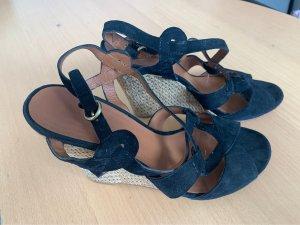 Ash Italia Wedge Sandals black
