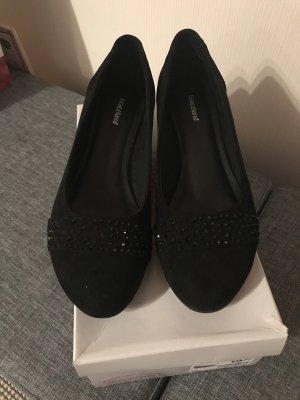 Deichmann Mary Jane ballerina's zwart