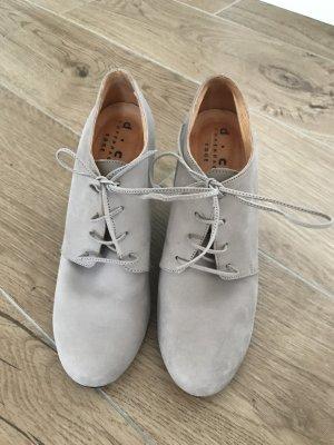 Wedge Booties cream leather
