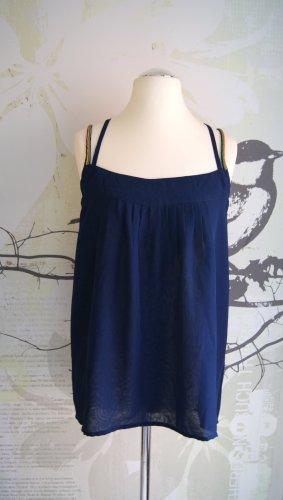 Keilani Träger-Top, Boho-Style, dunkelblau, Gr. 42 NEU
