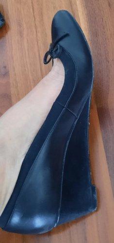 Buffalo London Wedge Pumps blue leather