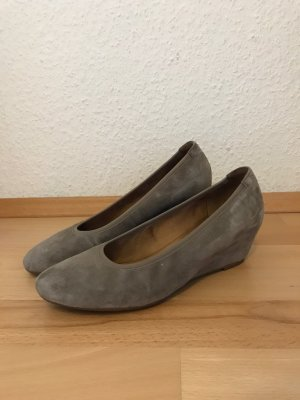 Gabor Wedge Pumps beige-grey brown