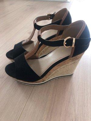 Graceland Platform Sandals black-brown