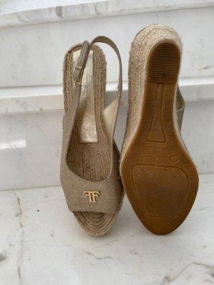 Farrutx Wedge Sandals gold-colored-oatmeal