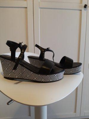 0039 Italy High Heel Sandal white-black