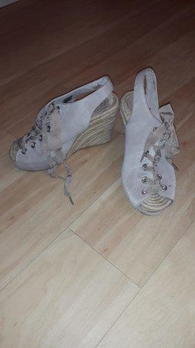 Sandały na platformie Wielokolorowy Tkanina z mieszanych włókien