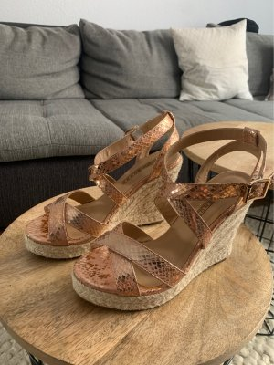 Buffalo London Wedge Sandals rose-gold-coloured-pink